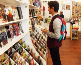 """""""I started off with 'Amazing Spiderman,'"""" said Kevin Rivas. Comics have become a social experience between Rivas and a friend, who recommend books to each other."""
